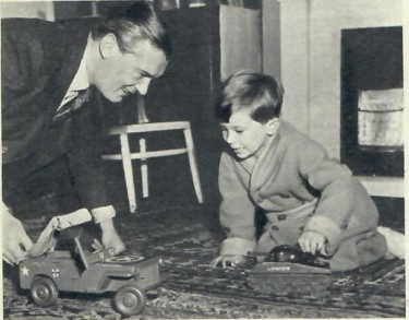 Hugh Williams with his son, Simon