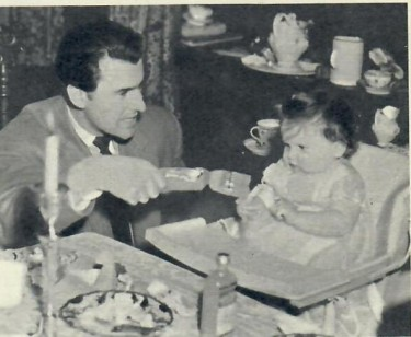 Stewart Granger and his Daughter
